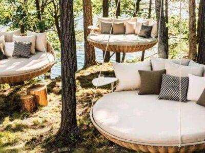 Gartenmöbel von DEDON Hanging Lounger